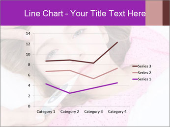 Cute little ill girl with a thermometer PowerPoint Templates - Slide 54