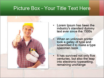 A bricklayer putting bricks PowerPoint Templates - Slide 13