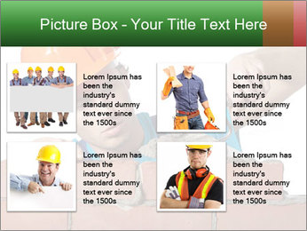 A bricklayer putting bricks PowerPoint Templates - Slide 14
