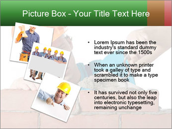 A bricklayer putting bricks PowerPoint Templates - Slide 17