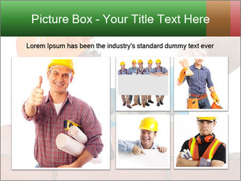 A bricklayer putting bricks PowerPoint Templates - Slide 19