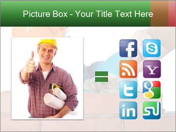 A bricklayer putting bricks PowerPoint Templates - Slide 21