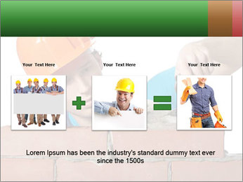 A bricklayer putting bricks PowerPoint Templates - Slide 22