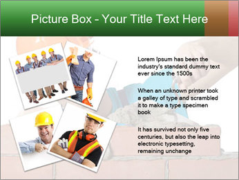 A bricklayer putting bricks PowerPoint Templates - Slide 23