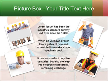 A bricklayer putting bricks PowerPoint Templates - Slide 24