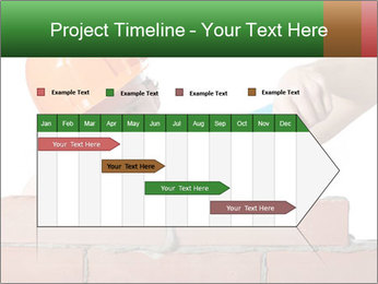 A bricklayer putting bricks PowerPoint Templates - Slide 25