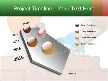 A bricklayer putting bricks PowerPoint Templates - Slide 26