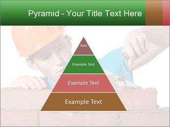 A bricklayer putting bricks PowerPoint Template - Slide 30