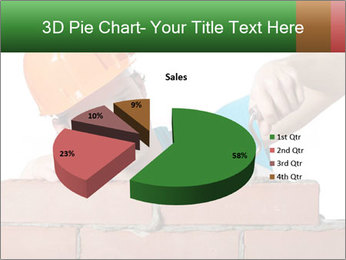 A bricklayer putting bricks PowerPoint Templates - Slide 35