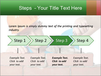 A bricklayer putting bricks PowerPoint Templates - Slide 4