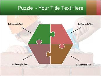 A bricklayer putting bricks PowerPoint Template - Slide 40