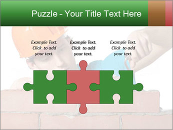 A bricklayer putting bricks PowerPoint Templates - Slide 42