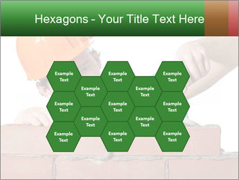 A bricklayer putting bricks PowerPoint Templates - Slide 44