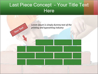 A bricklayer putting bricks PowerPoint Templates - Slide 46