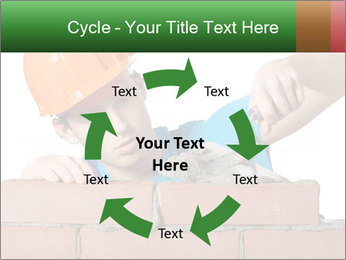 A bricklayer putting bricks PowerPoint Templates - Slide 62
