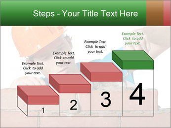 A bricklayer putting bricks PowerPoint Templates - Slide 64
