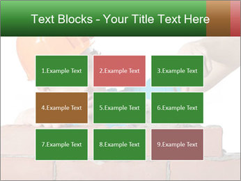 A bricklayer putting bricks PowerPoint Template - Slide 68