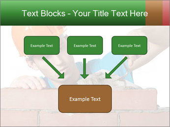 A bricklayer putting bricks PowerPoint Templates - Slide 70