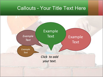 A bricklayer putting bricks PowerPoint Templates - Slide 73