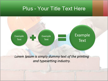 A bricklayer putting bricks PowerPoint Templates - Slide 75