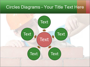 A bricklayer putting bricks PowerPoint Templates - Slide 78