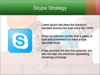 A bricklayer putting bricks PowerPoint Template - Slide 8