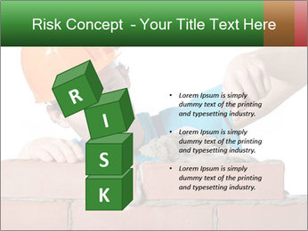 A bricklayer putting bricks PowerPoint Templates - Slide 81