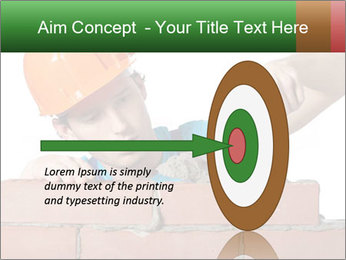 A bricklayer putting bricks PowerPoint Templates - Slide 83