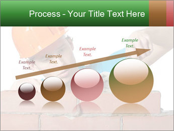 A bricklayer putting bricks PowerPoint Templates - Slide 87