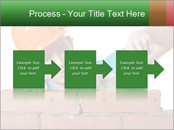 A bricklayer putting bricks PowerPoint Templates - Slide 88