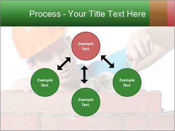A bricklayer putting bricks PowerPoint Templates - Slide 91