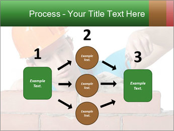 A bricklayer putting bricks PowerPoint Templates - Slide 92