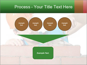 A bricklayer putting bricks PowerPoint Templates - Slide 93
