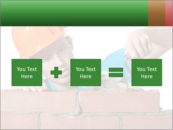 A bricklayer putting bricks PowerPoint Templates - Slide 95