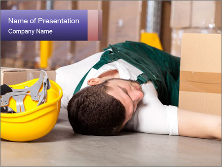 Dangerous accident PowerPoint Template