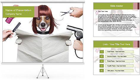 Hairdresser dog PowerPoint Template