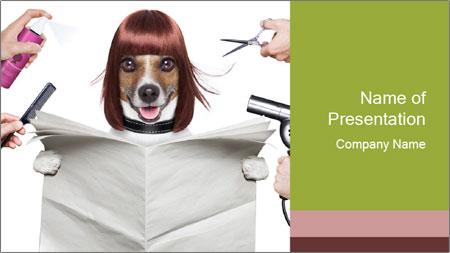 Hairdresser dog PowerPoint Template