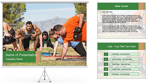 Fitness instructor PowerPoint Template