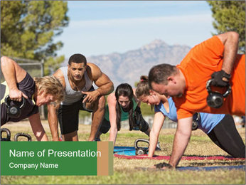 Fitness instructor PowerPoint Template - Slide 1