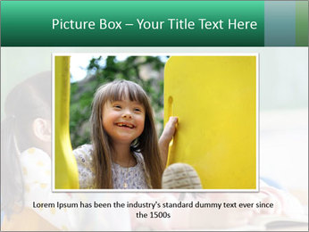 Laughing little girls PowerPoint Template - Slide 16
