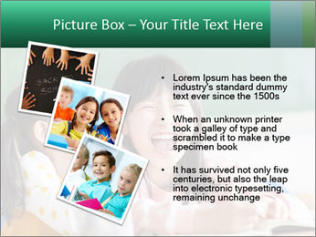 Laughing little girls PowerPoint Template - Slide 17