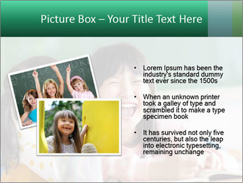 Laughing little girls PowerPoint Template - Slide 20