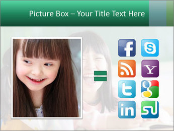 Laughing little girls PowerPoint Template - Slide 21