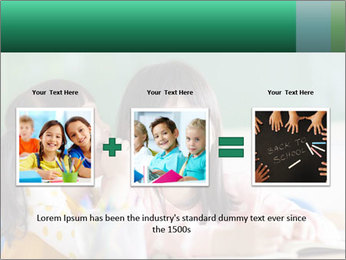 Laughing little girls PowerPoint Template - Slide 22