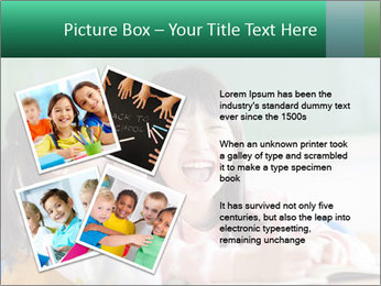Laughing little girls PowerPoint Template - Slide 23