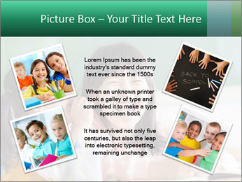Laughing little girls PowerPoint Template - Slide 24