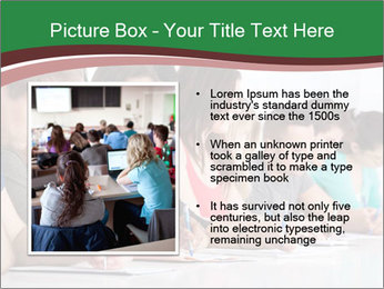 Portrait of smiling college student PowerPoint Template - Slide 13