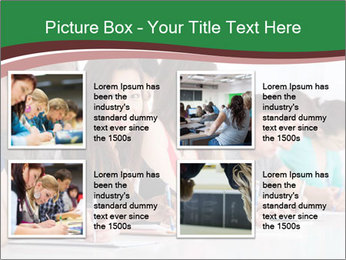 Portrait of smiling college student PowerPoint Template - Slide 14