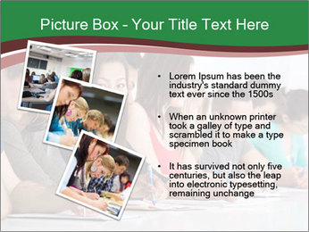 Portrait of smiling college student PowerPoint Template - Slide 17