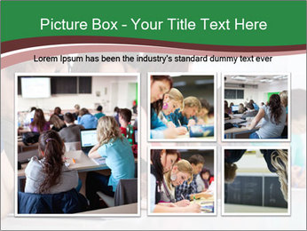 Portrait of smiling college student PowerPoint Template - Slide 19